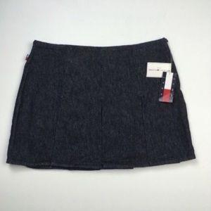 NWT VTG TOMMY HILFIGER Mini Pleated Jean Skirt